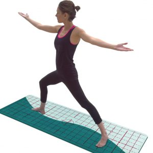 Yogi Aligned Warrior Two Matrix Wave Mat