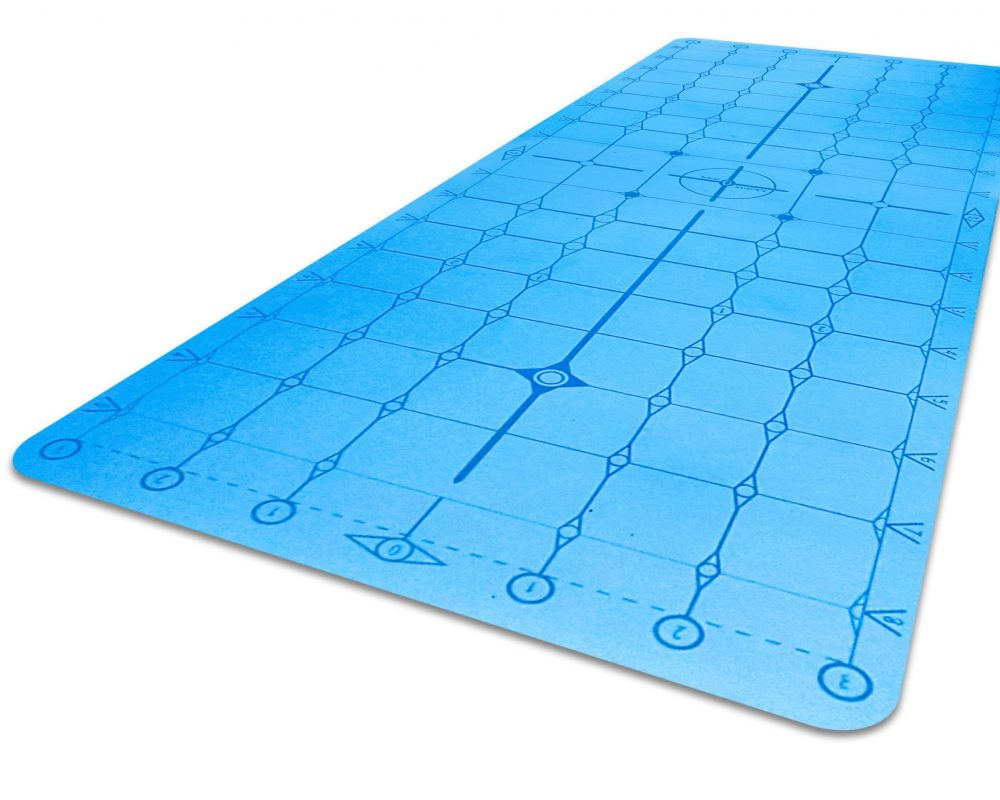 Matrix Diamond PU Yoga Alignment Mat Blue_iso crop2