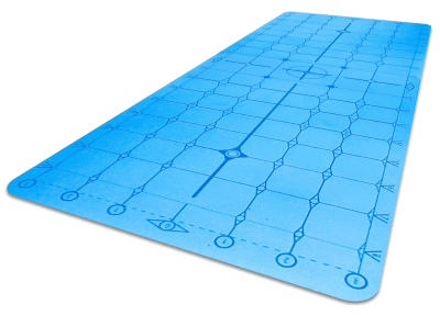 Matrix Mat PU Diamond Blue angle new small